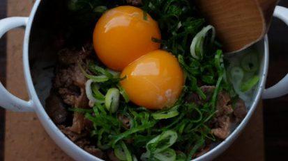 九条ねぎと卵の混ぜごはん