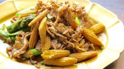 豚肉と初夏野菜の山椒炒め